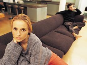 Couple on a sofa